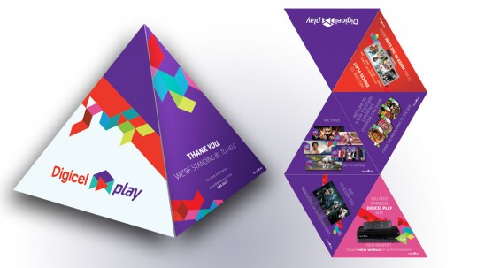 Digicel Play Tetrahedron Flyer Design