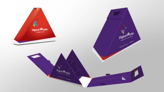 Digicel Play Marketing Box Design