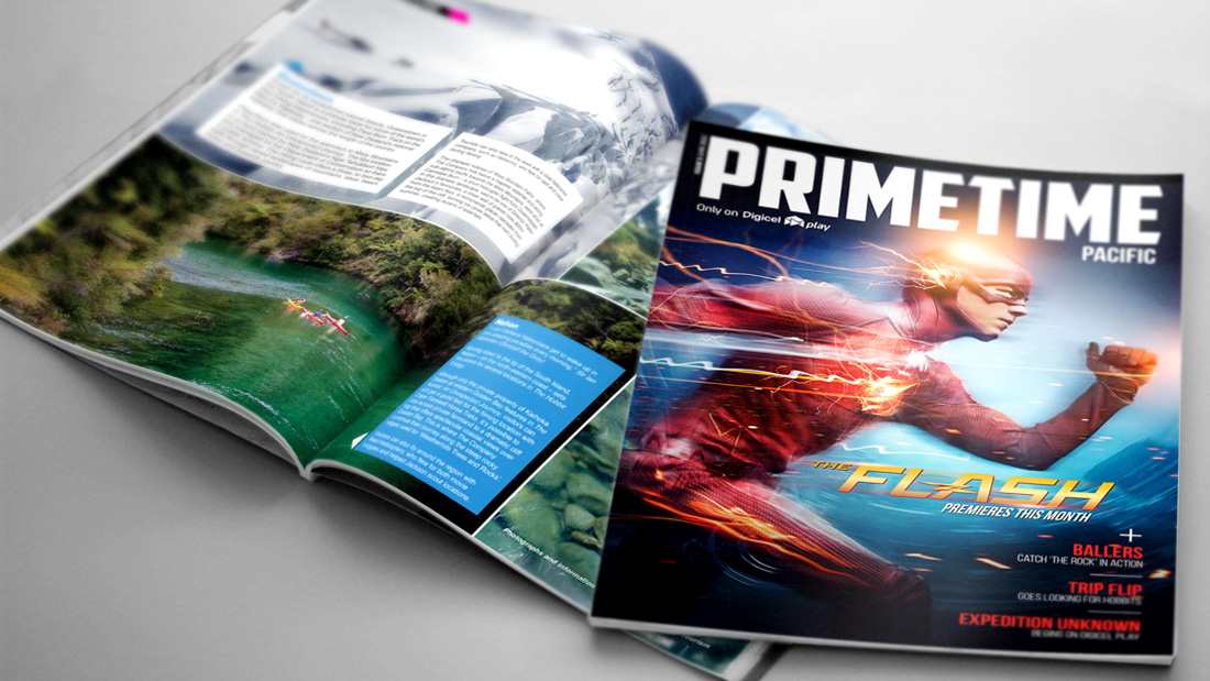 Primetime Magazine Design - Digicel Plays Monthly Magazine