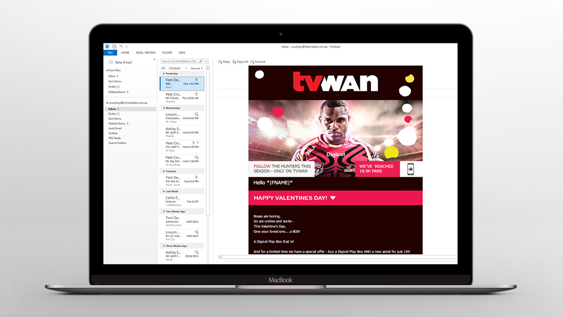 TVWAN Email Newsletter Design