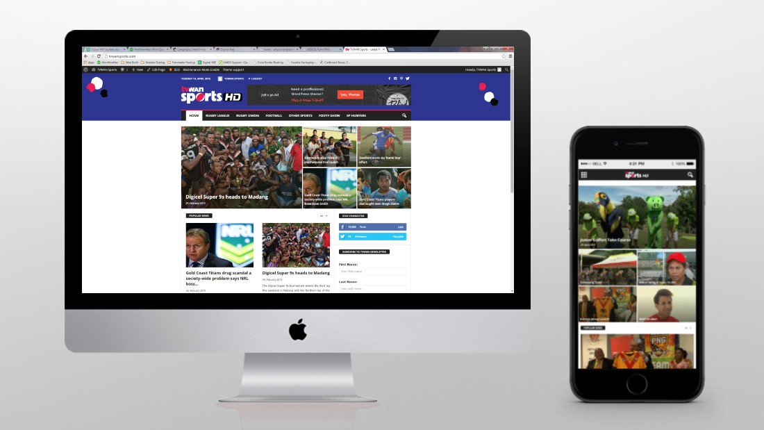 TVWAN Sports HD Website Design