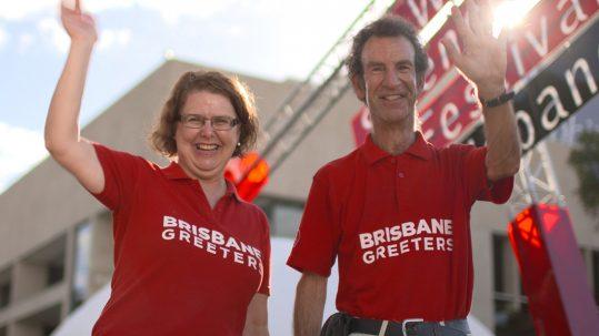 World Science Festival - Brisbane Greeters at Festival entrance