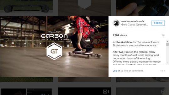 Evolve Skateboards GT Carbon