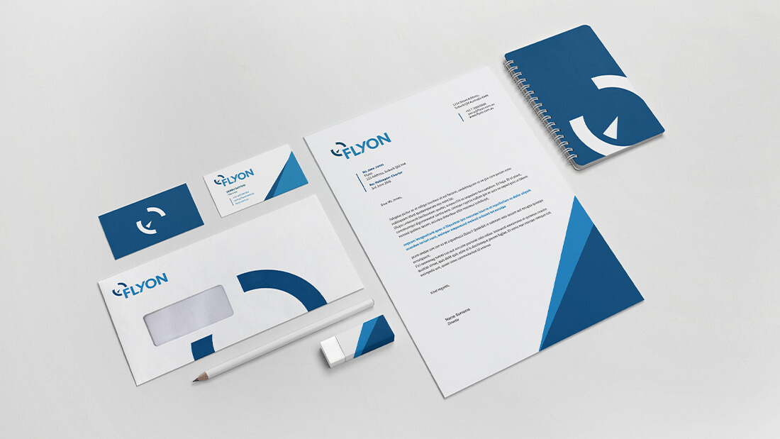 Flyon Brand Design - Corporate Stationery