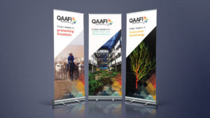 QAAFI Brand Design - Pull up banner design