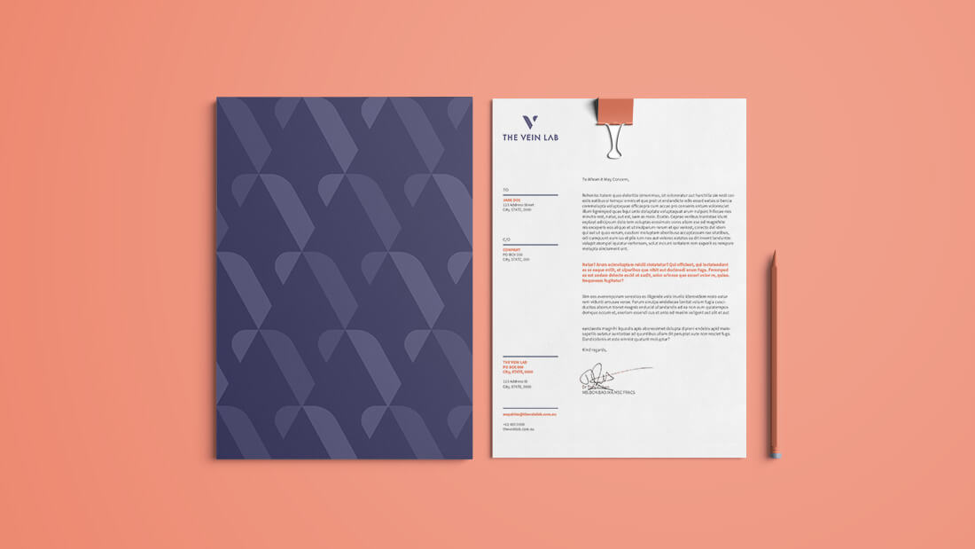 The Vein Lab Brand Design - Corporate Stationery
