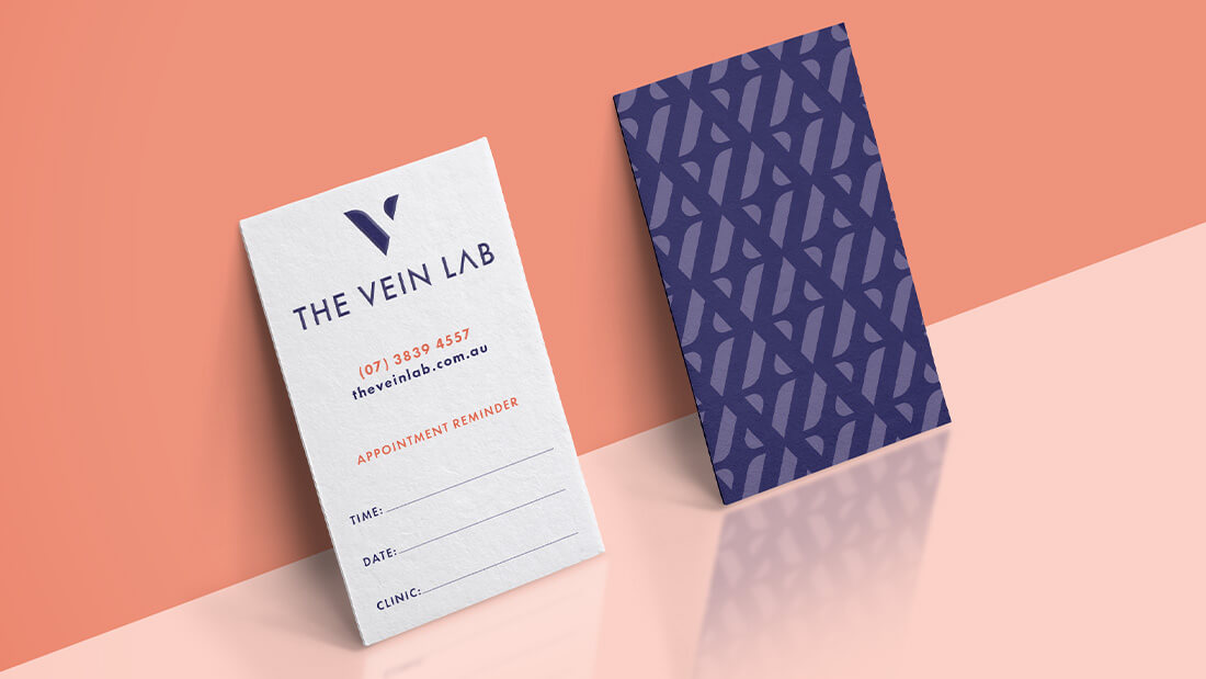 The Vein Lab Brand Design - Appointment Cards