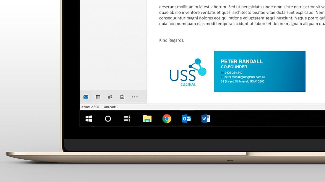 USS Global Brand Design - Email Signature Design